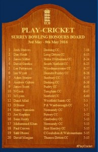 James Miller Honours Board 7th May 2016