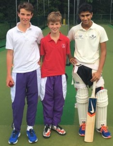 Tom Lawes and Alex Clinton with Mumbai U16