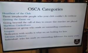 2016 OSCAs Categories