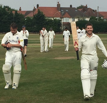 Adam De Swardt 100 not out v Battersea Ironsides