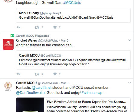 Dan Douthwaite Twitter re Warwickshire