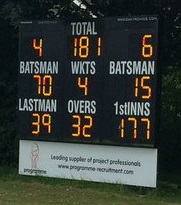 Horsley and Send Scoreboard