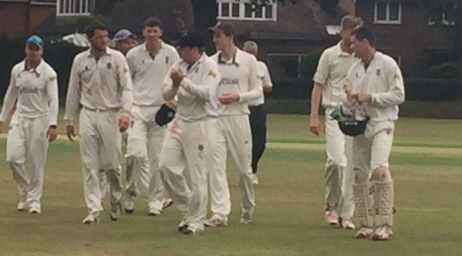 1st XI Back on Top with Win at Byfleet
