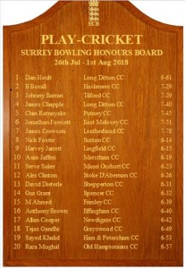 Surrey Honours Board 28 07 2018 Alex Clinton