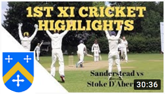 1st XI win at Sanderstead (Coverage on You Tube)